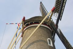 Details of a traditional windmill as an alternative energy source, Netherlands Royalty Free Stock Photo