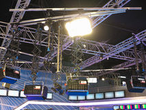 Structures of tv studio illumination equipment and projectors Royalty Free Stock Photography