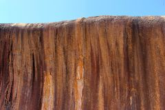 Structures of the Wave Rock, Hyden, Western Australia Stock Images