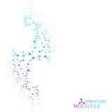 Structurez la molécule et l'ADN de communication, atome, neurones Concept de la Science pour votre conception Lignes reliées avec illustration stock