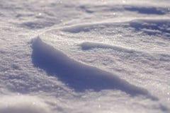 Structuur in de sneeuw, detailfotografie stock afbeeldingen