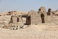 structuur in Luxor in Egypte Stock Fotografie