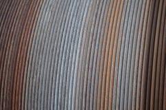 Structuur: roestige staaldraad op een kabeltrommel Stock Foto
