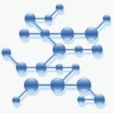 Structuur van abstracte molecule. Stock Afbeelding