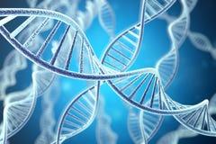 Structuur van DNA van de Concetp de digitale illustratie het 3d teruggeven stock afbeelding