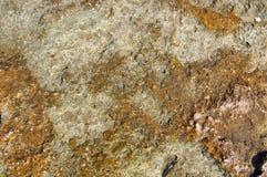 Structuur van kust overzeese steen stock afbeelding