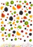 Structuur van verschillend fruit Royalty-vrije Stock Afbeelding