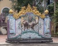 Structuur voor een Boeddhistische tempel in het kleine de landbouwdorp Phuong Nam in Vietnam royalty-vrije stock foto