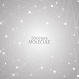 Structuurmolecule en communicatie DNA, atoom, neuronen Wetenschapsconcept voor uw ontwerp Verbonden lijnen met punten Stock Illustratie