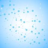 Structuurmolecule en communicatie DNA, atoom, neuronen Wetenschapsconcept voor uw ontwerp Verbonden lijnen met punten Vector Illustratie