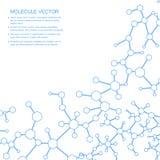 Structuurmolecule en communicatie DNA, atoom, neuronen Wetenschapsconcept voor uw ontwerp Verbonden lijnen met punten Royalty-vrije Illustratie