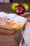 Strudel της Apple ή πίτα μήλων Στοκ Εικόνες