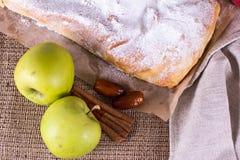 Strudel της Apple ή πίτα μήλων Στοκ Εικόνα