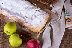 Strudel της Apple ή πίτα μήλων Στοκ Φωτογραφία