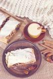 Strudel της Apple, πίτα μήλων Στοκ εικόνες με δικαίωμα ελεύθερης χρήσης