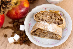 Strudel της Apple πίτα Στοκ Εικόνες