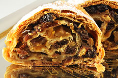 Strudel. With apples, plums and apricots Royalty Free Stock Image