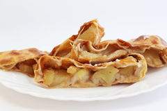 Strudel. An apple strudel. Shallow depth of field Royalty Free Stock Photo
