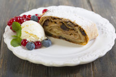 Strudel with apples. Stock Images