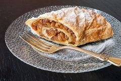 Strudel with apples Royalty Free Stock Photo