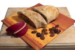Strudel with apples. And raisins Royalty Free Stock Photography