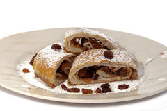 Strudel with apples Royalty Free Stock Photography