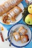 Strudel aux pommes ou Apfelstrudel Images libres de droits