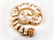 Strudel is baked as email symbol Stock Images