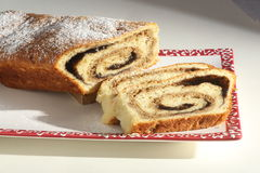 Strudel cake on plate Stock Image