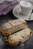 Strudel with cheese and raisins Royalty Free Stock Photography