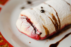 Strudel with cherry Royalty Free Stock Image
