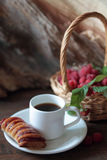 Strudel and coffee Stock Image