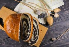 Strudel delicioso doce com sementes de papoila Foto de Stock Royalty Free