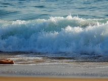 Strudel durch das Meer Stockbild