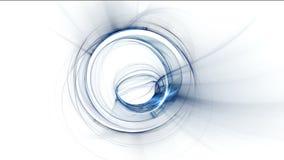 Strudel, dynamische blaue Rotationsbewegung Stockbilder