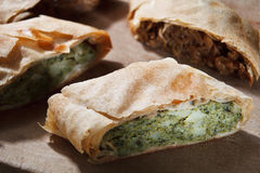 Strudel filling with broccoli Royalty Free Stock Images