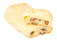 Strudel filling with mushrooms and potatoes Stock Photography