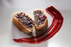 Strudel filling with poppy-seeds and sour cherry Stock Photography