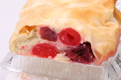 Strudel of flaky pastry Royalty Free Stock Photo