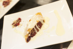 Strudel with ice cream Royalty Free Stock Photography