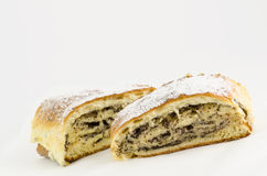 Strudel with poppy Royalty Free Stock Image