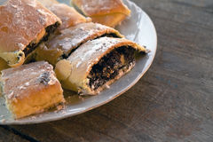Strudel with poppy seed Royalty Free Stock Image