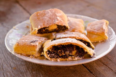 Strudel with poppy seed Royalty Free Stock Photography