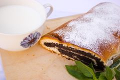 Strudel with poppy seeds Stock Photography