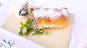 Strudel with poppy seeds Royalty Free Stock Image