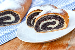 Strudel with poppy seeds - closeup Stock Image