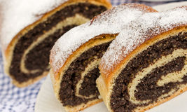 Strudel with poppy seeds Royalty Free Stock Photos