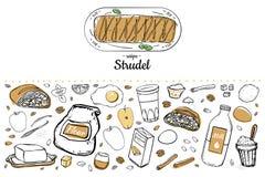 Strudel3 stock illustratie