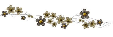 Strudel und Blumen Stockfotos