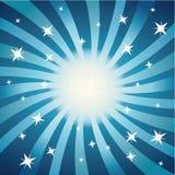 Strudel und Sterne (blau) Stockfoto